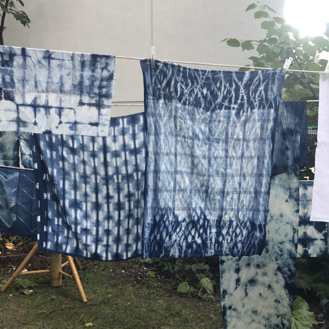 Frau Piepenkötter I japanische Färbetechnik mit Ranipink
